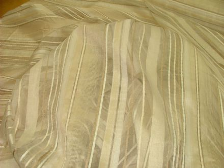 Ashley Wilde ASHBY Cream Voile, Organza Curtain / Window Dressing 300cm wide